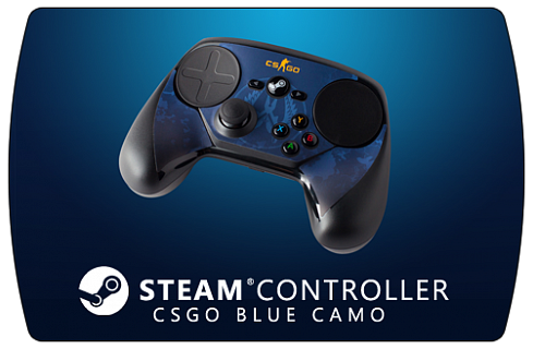 Steam Controller Skin - CSGO Blue Camo
