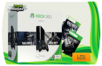 Xbox 360 E 500 GB + Call of Duty: Ghosts + Call of Duty: Black Ops 2