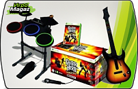 Guitar Hero World Tour - Complete Band Pack (Игра + Гитара + Барабаны + Микрофон) для Xbox 360