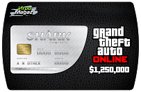 1,250,000 $ для Grand Theft Auto V (ГТА 5) Online – GTA 5 Great White Shark Cash Card (ключ для ПК)