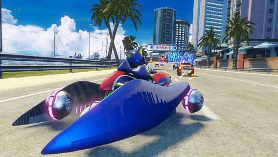 Sonic & All-Stars Racing Transformed Metal Sonic & Outrun