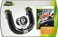 Беспроводной руль для Xbox 360 (Wireless Speed Wheel Microsoft) + SEGA Rally Online Arcade + 3M Live