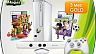 Microsoft Xbox 360 Special Edition 4 GB + сенсор Kinect + игры Kinect Adventures + Kinect Sports 1 + 3M Live (белая)